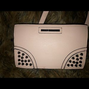 Steve Madden Blush-Studded Shoulder Clutch/Purse